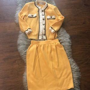 St. John blazer and skirt set